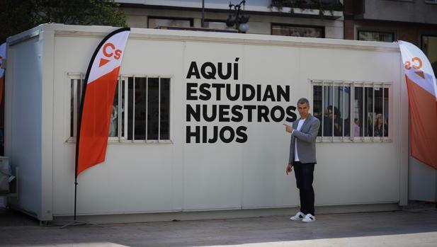 Imagen de Toni Cantó tomada este lunes en Valencia