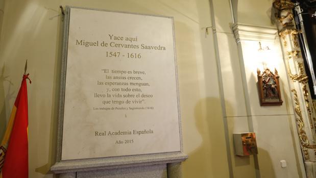 Tumba de Cervantes en el Convento de las Trinitarias