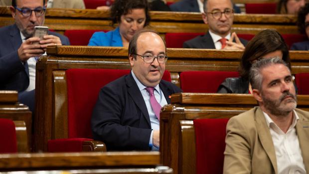 Miquel Iceta, en el Parlamento catalán