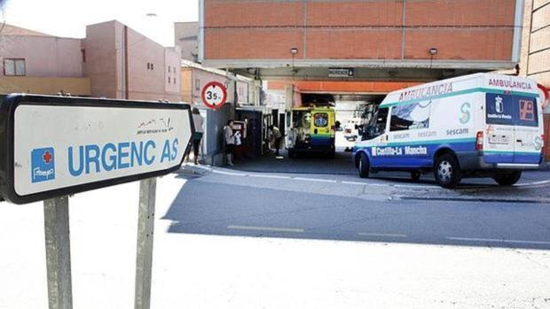 Entrada al servicio de Urgencias del hospital Virgen de la Salud