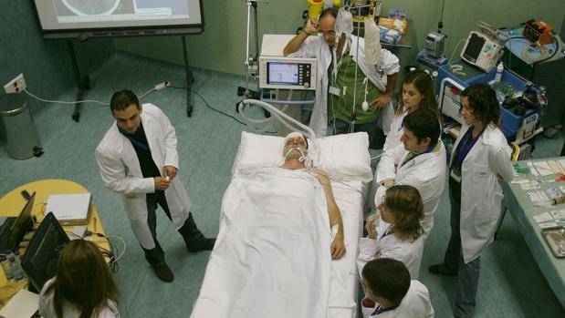Un curso de formación de profesionales de medicina