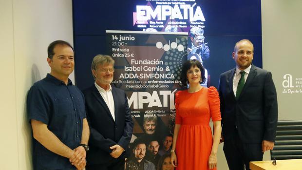Miguel Navaro, Eloy Arenas, Anabel García y Adrián Ballester