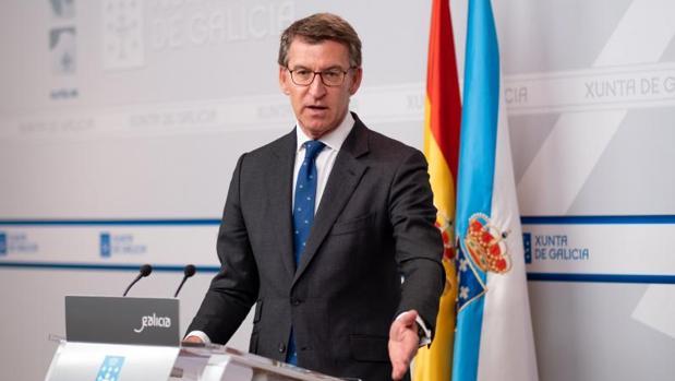 Alberto Núñez Feijóo, durante una comparecencia tras un Consello de la Xunta