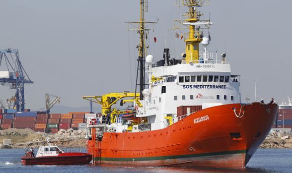 El barco, a su llegada a Valencia hace un año
