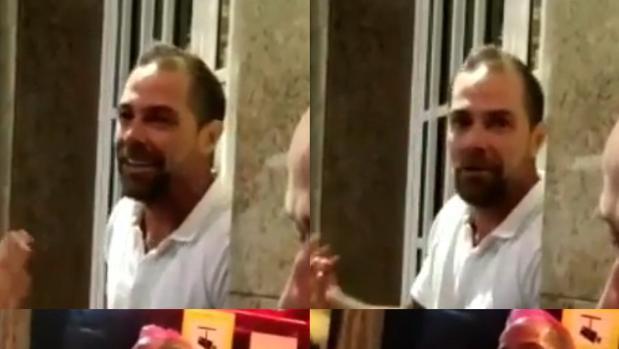 Captura del vídeo que circula por las redes en el que se puede ver al agresor