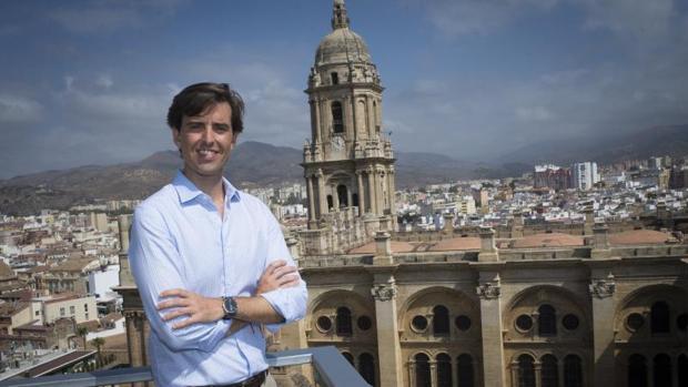 Pablo Montesinos, durante la entrevista en Málaga