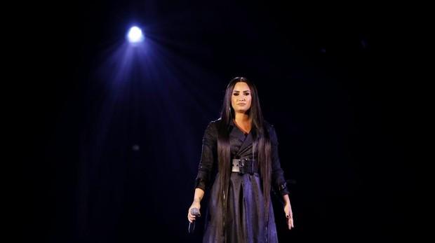 Demi Lovato durante un concierto en Suecia en junio de este año