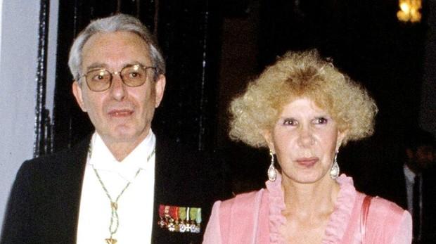 La duquesa de Alba y su segundo marido, Jesús Aguirre