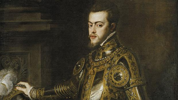 Felipe, príncipe de Asturias, por Tiziano (1551).