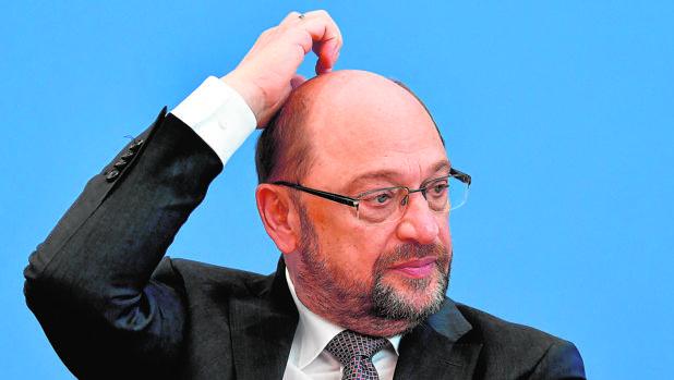 Martin Schulz, líder socialdemócrata alemán, en rueda de prensa