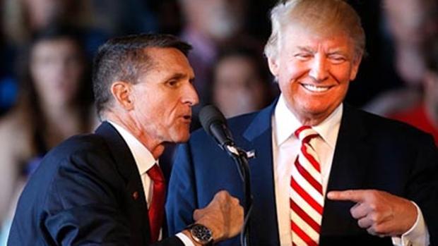 Michael Flynn con Donald Trump