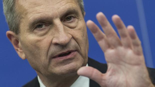 El comisario europeo del Presupuesto, Gunther Oettinger