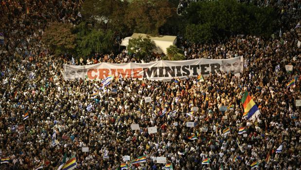 Israelíes de la minoría drusa se manifiestan en la plaza Rabin, Tel Aviv
