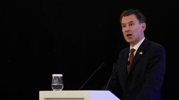El ministro de Exteriores, Jeremy Hunt, durante una conferencia en Singapur sobra la etapa post-Brexit