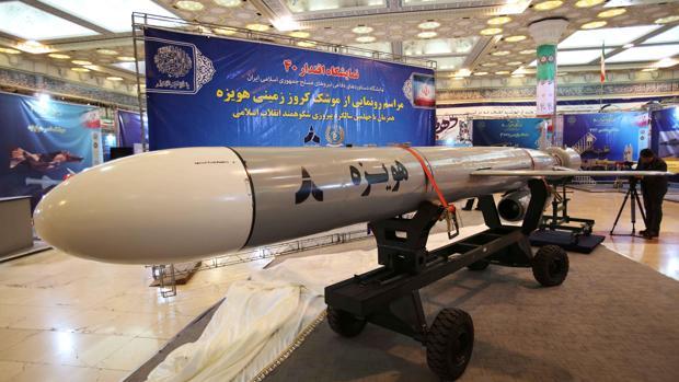 El nuevo misil «Hoveizeh», expuesto en Teherán