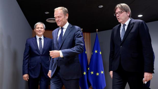 El presidente del Consejo de Europa, Donald Tusk, en una reunión ayer