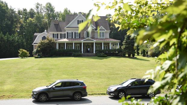 Casa en la que supuestamente vivía el espía junto a su familia, a las afueras de Washington
