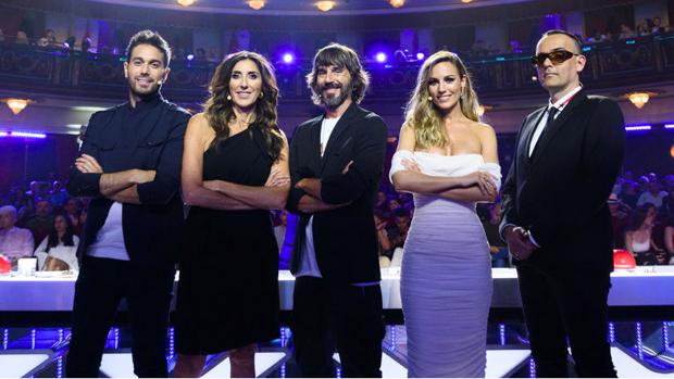 Dani Martínez, Paz Padilla, Santi Millán, Edurne y Risto.