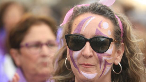 Una de las participantes en la manifestación celebrada el pasado viernes en Cádiz