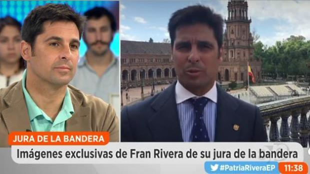 Fran Rivera, durante su intervención en Espejo Público