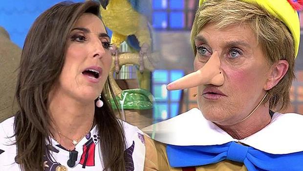 Paz Padilla y Chelo García-Cortés, durante el polémico programa