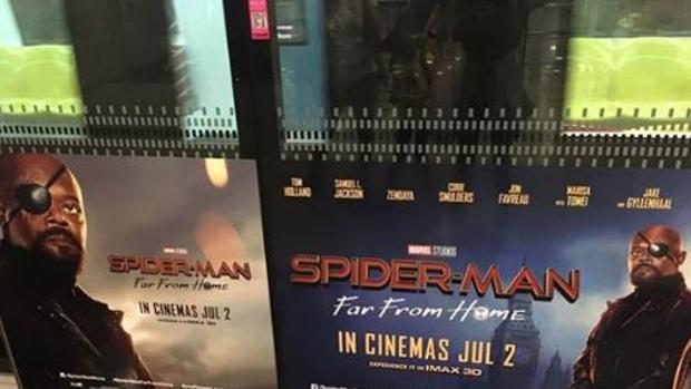 El cartel promocional de «Spider-Man,: Lejos de casa»