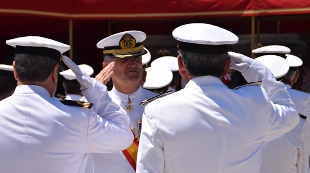 El almirante de la Flota durante los actos del día del Carmen este lunes.
