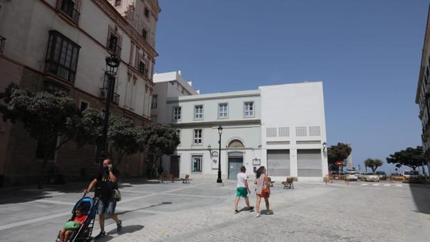 La plaza de Argüelles, ya peatonalizada