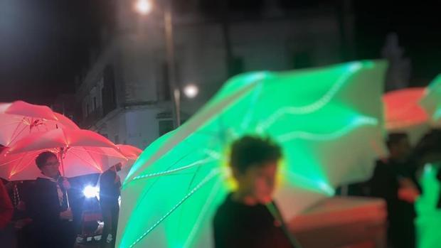 Imagen de los paraguas creados para la ocasión.