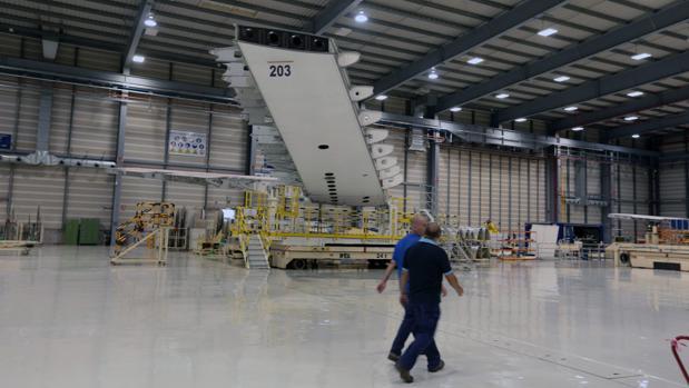 Interior de la planta de Airbus en Puerto Real