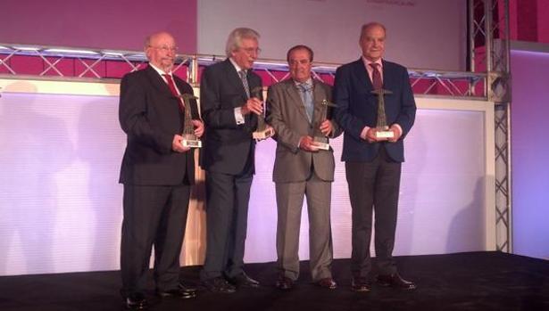 Los cuatro premiados en la X edición de La Voz