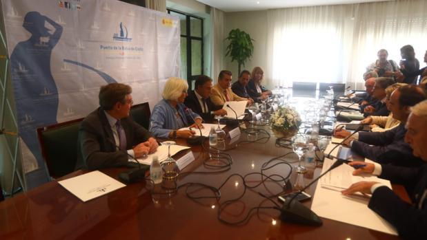 Reunión entre los presidentes de los puertos andaluces.