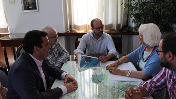 Germán Beardo, con Curro Martínez y Teófia Martínez.