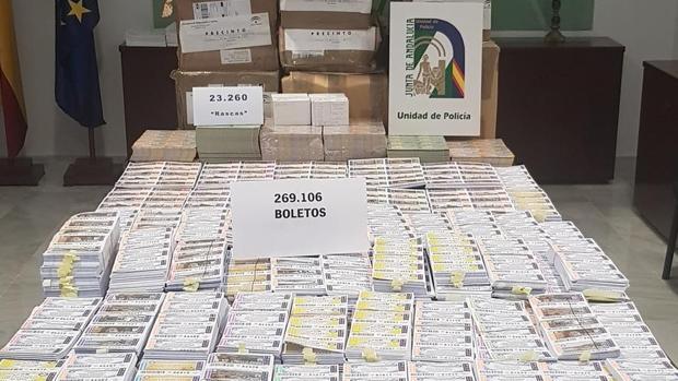 Boletos ilegales incautados