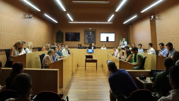 Una de las sesiones plenarias del Ayuntamiento de El Puerto.