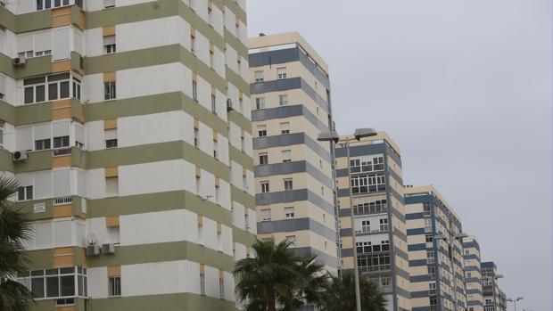 Imagen de viviendas de la barriada de La Paz.