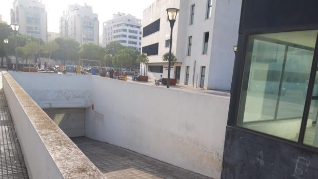El parking bajo la plaza Real Hospital de la Segunda Aguada, a la espera de su puesta en marcha.