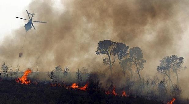 Incendios forestales en la Comunidad Valenciana