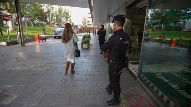 El despliegue policial se mantuvo hasta las ocho de la tarde