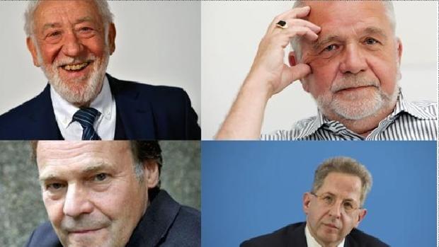 El actor Dieter Hallervorden, el filósofo Rüdiger Safranski, el novelista Peter Schneider y el ex jefe de inteligencia , Hans-Georg Maassen