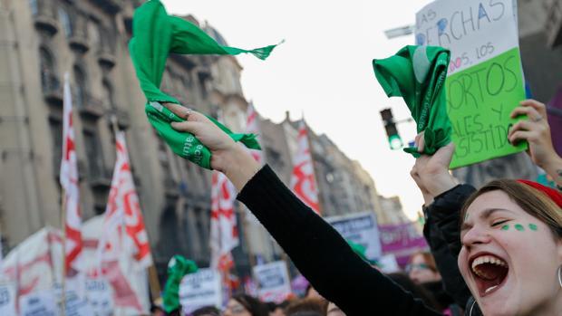 Manifestación en Argentina por la legalización del aborto