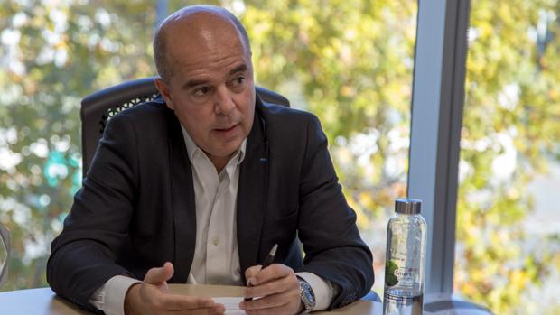 Jaime de Jaraíz, presidente de LG en España, durante la entrevista