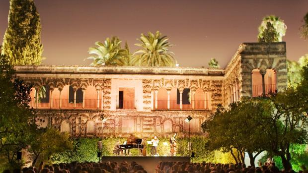 Uno de los conciertos en los Jardines del Alcázar