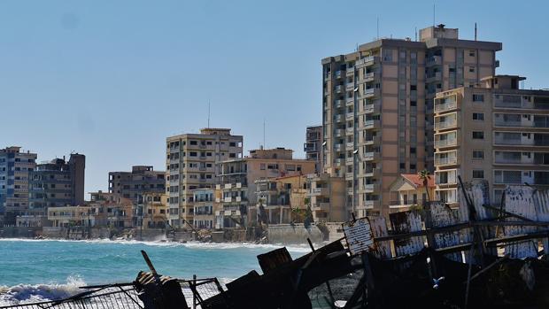 Varosha, un distrito de la ciudad chipriota de Famagusta, fue abandonada en 1974